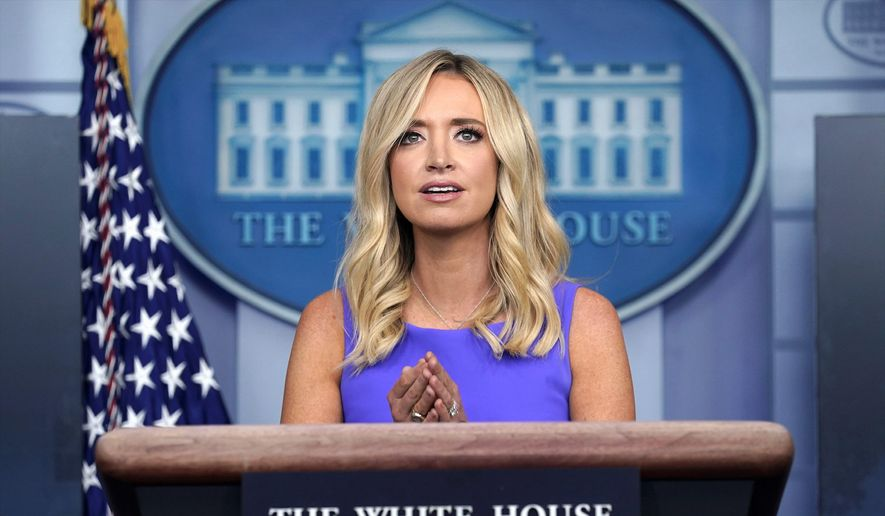 "White House press secretary Kayleigh McEnany has earned praise for her performance on the job, and her ""patriotic candor."" (Associated Press)"