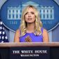 """White House press secretary Kayleigh McEnany has earned praise for her performance on the job, and her """"patriotic candor."""" (Associated Press)"""