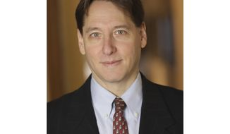 This image released by Simon & Schuster shows Jonathan Karp, the newly named CEO of Simon & Schuster. Karp replaces Carolyn Reidy, who died on May 12, (Michael Benabib/Simon & Schuster via AP)