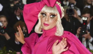 """This May 6, 2019 file photo shows Lady Gaga at The Metropolitan Museum of Art's Costume Institute benefit gala celebrating the opening of the """"Camp: Notes on Fashion"""" exhibition in New York. Lady Gaga's latest album """"Chromatica"""" was released on Friday. (Photo by Evan Agostini/Invision/AP, File)"""