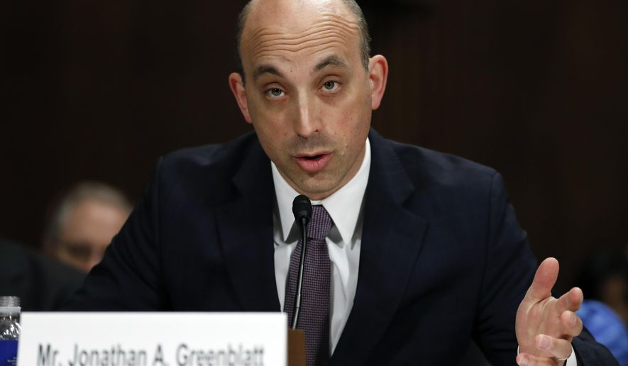 In this May 2, 2017, file photo, Jonathan Greenblatt, CEO and National Director of the Anti-Defamation League, speaks on Capitol Hill in Washington. (AP Photo/Carolyn Kaster, File)