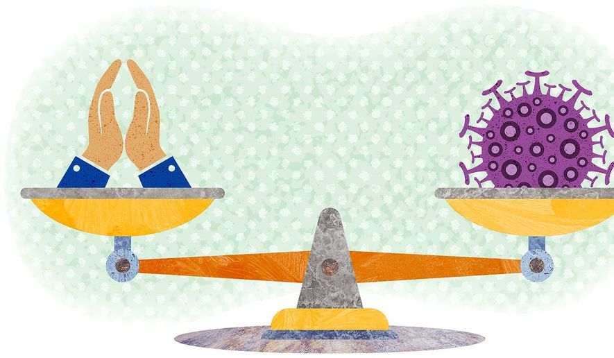 Freedom Scales Illustration by Greg Groesch/The Washington Times