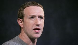 In this Oct. 25, 2019, file photo Facebook CEO Mark Zuckerberg speaks at the Paley Center in New York. (AP Photo/Mark Lennihan) ** FILE **