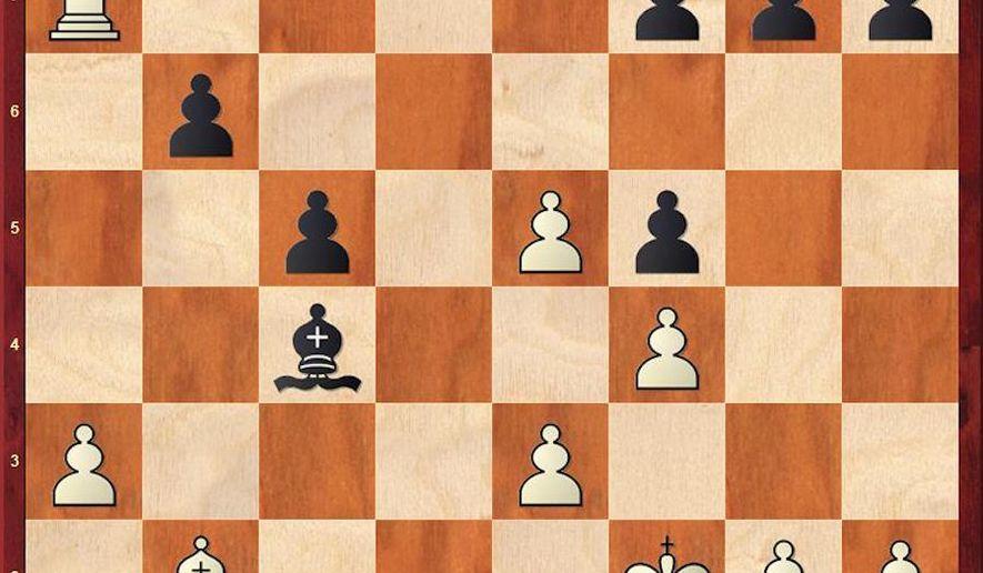 Sarana-Giri after 25...Bxc4.