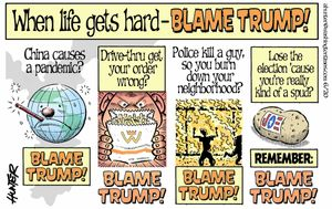 When life gets hard -- Blame Trump