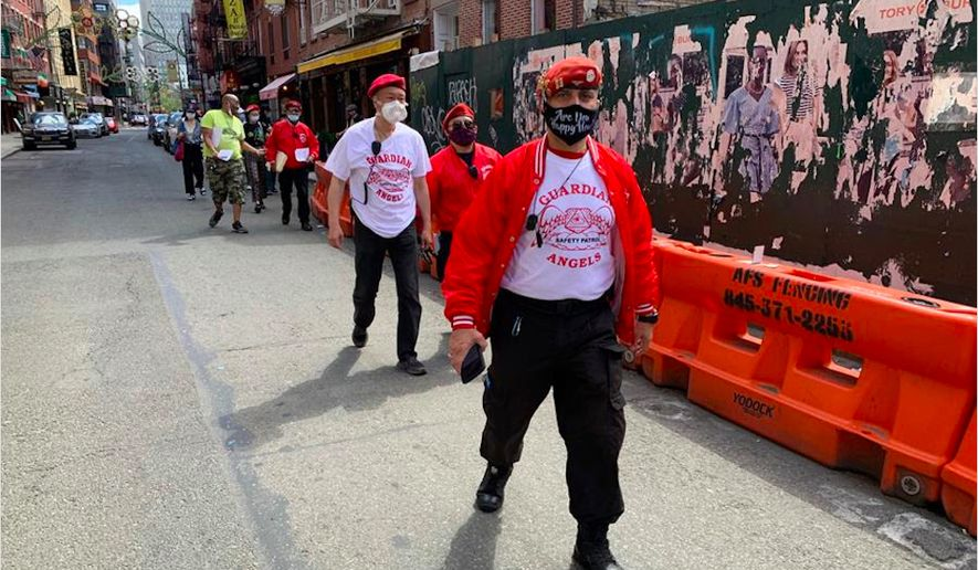 "The all-volunteers Guardian Angels have vowed to protect New York City following ""mayhem"" which has erupted on the streets following the death of George Floyd. (Image courtesy of the Guardian Angels.)"