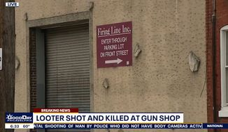 A gun store owner in Philadelphia opened fire on a group of looters inside his business, killing one, police said Tuesday, June 2, 2020. (screengrab via FOX 29)