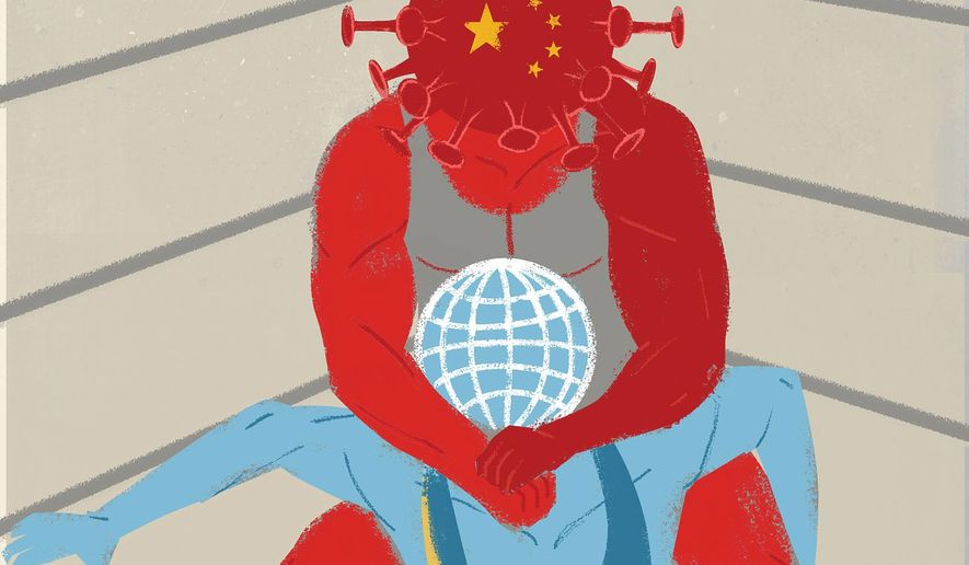 China isn't letting a pandemic go to waste illustration by The Washington Times