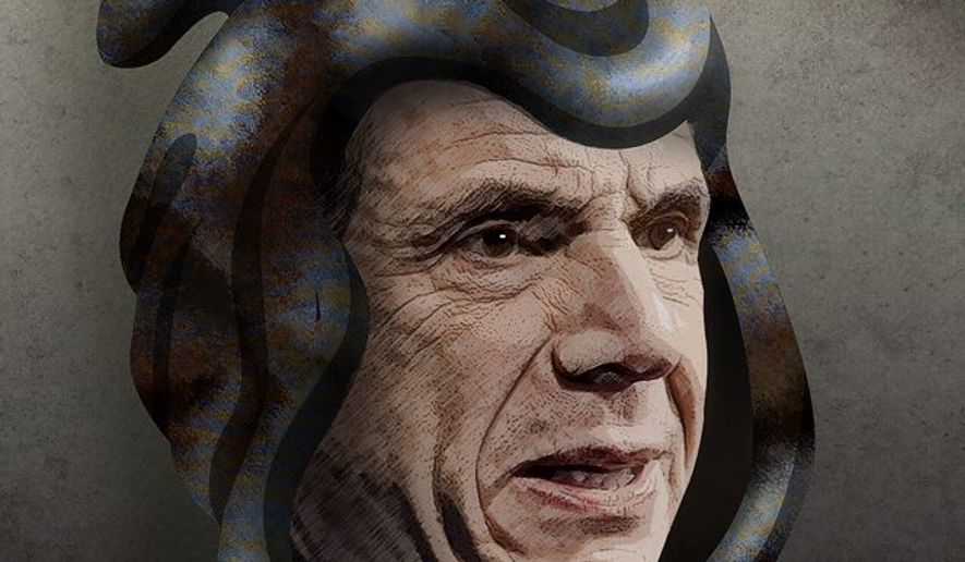 Cuomo the Reaper Illustration by Greg Groesch/The Washington Times