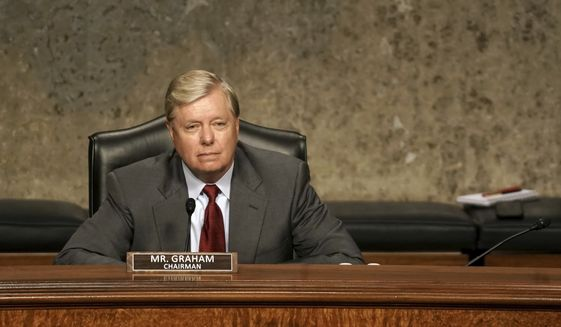 Senate Judiciary Committee Chairman Lindsey Graham, R-S.C., listens during a Senate Judiciary Committee hearing on Capitol Hill in Washington, Wednesday, June 3, 2020. (Greg Nash/Pool via AP) **FILE**