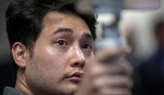 In this Sept. 12, 2019, file photo, Andy Ngo, a conservative journalist, attends a press conference in Portland, Ore. Ngo has filed a lawsuit against purported elements of the nebulous far-left-leaning militant groups collectively known as Antifa on Thursday, June 4, 2020. (Mark Graves/The Oregonian via AP)