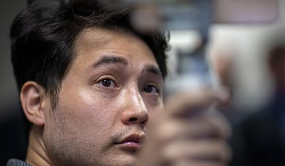 In this Sept. 12, 2019 photo, Andy Ngo, a freelance journalist, attends a press conference in Portland, Ore.  (Mark Graves/The Oregonian via AP)  **FILE**
