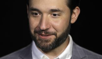 FILE - In this Feb. 19, 2019, file photo, Alexis Ohanian, founder of the social media company Reddit, gives an interview in New York. Ohanian announced on Friday, June 5, 2020, his resignation from the board of the social media site and urged the board to replace him with a black candidate. Ohanian, who is white, implicitly linked his move to protests around the globe over the killing of George Floyd, a black man who died in Minneapolis after a police officer pressed his knee against his neck for several minutes, even after he stopped pleading for air and became unresponsive. (AP Photo/Bebeto Matthews, File)