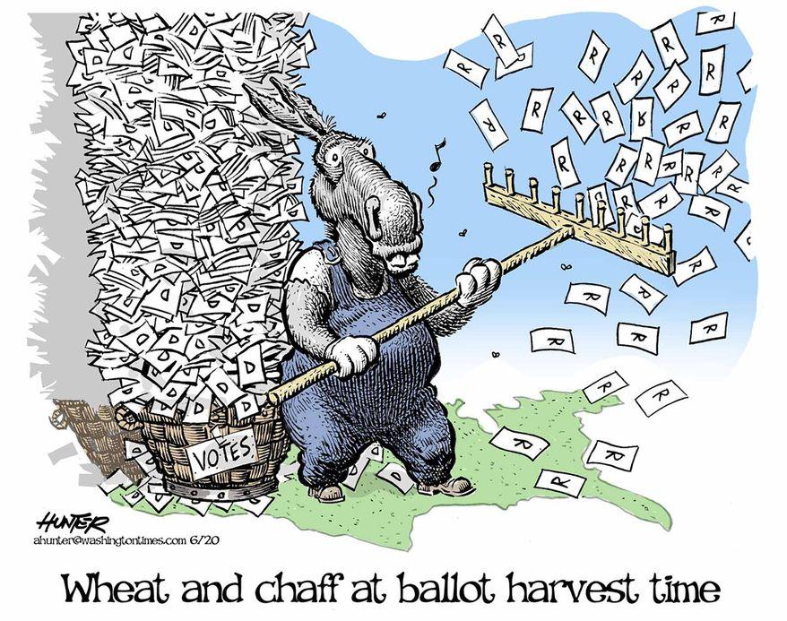 Illustration by Alexander Hunter for The Washington Times (published June 7, 2020)