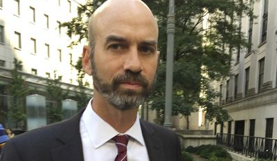 James Bennet, editorial page editor of The New York Times resigned Sunday after several days of strife over a Sen. Tom Cotton's op-ed column. (AP Photo/Larry Neumeister, File)