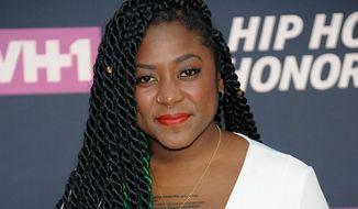 Co-founder of Black Lives Matter Alicia Garza attends the arrivals at VH1's Hip Hop Honors at David Geffen Hall at Lincoln Center in New York.  (Photo by Brad Barket/Invision/AP, File)