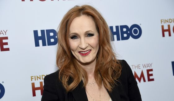 """In a Wednesday, Dec. 11, 2019, file photo, author and Lumos Foundation founder J.K. Rowling attends the HBO Documentary Films premiere of """"Finding the Way Home"""" at 30 Hudson Yards, in New York. """"Harry Potter"""" author J.K. Rowling has fallen under scrutiny after her series of tweets Saturday, June 6, 2020, were deemed as transphobic. (Photo by Evan Agostini/Invision/AP, File)"""