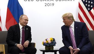 U.S. President Donald Trump and Russian President Vladimir Putin have agreed to start arms control talks this month, but a State Department report has identified violations and failures by the Russians to live up to arms accords in nine different agreements. (AP Photo/Susan Walsh, File)