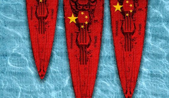 China Expansionism Illustration by Greg Groesch/The Washington Times