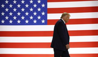 President Donald Trump arrives to speak during a tour of Puritan Medical Products medical swab manufacturing facility, Friday, June 5, 2020, in Guilford, Maine. (AP Photo/Patrick Semansky)