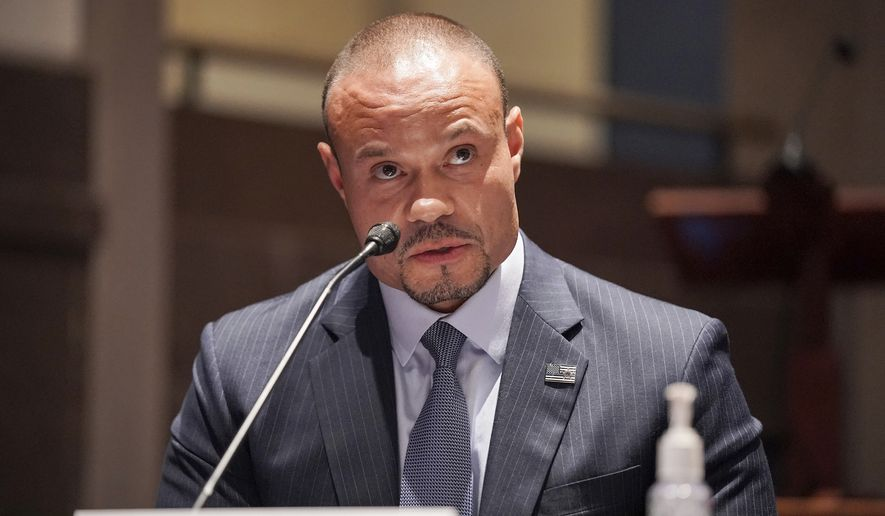 Daniel Bongino speaks during a House Judiciary Committee hearing on proposed changes to police practices and accountability on Capitol Hill, Wednesday, June 10, 2020, in Washington. (Greg Nash/Pool via AP)
