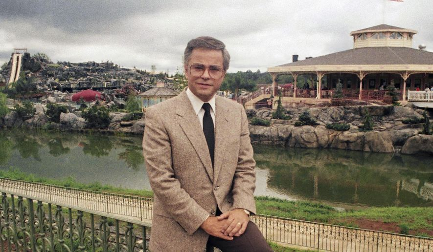 FILE - In this March 19, 1987, file photo, Television evangelist Jim Bakker poses in Columbia, S.C. Missouri-based TV pastor Jim Bakker, in a court filing on Monday, May 4, 2020, is asking a judge to dismiss a state lawsuit accusing him of falsely claiming that a health supplement could cure the coronavirus. The lawsuit said Bakker and a guest made the cure claim during a program on Feb. 12. (AP Photo/Lou Krasky File)