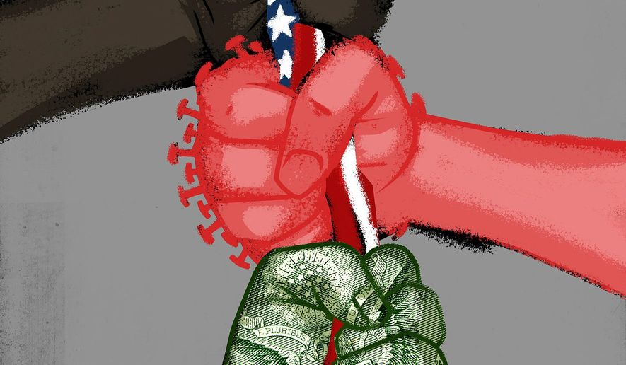 Flag Day in a chaotic year illustration by The Washington Times