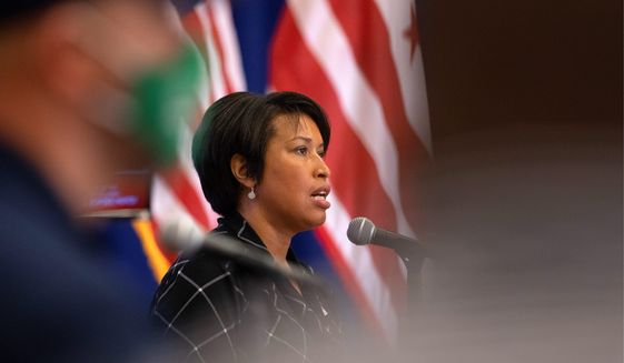 Witnesses at Monday's Justice and Public Safety Committee hearing want D.C. Mayor Muriel Bowser's revised fiscal 2021 budget, which includes a 3.3% increase for police, to be rejected. (ASSOCIATED PRESS)