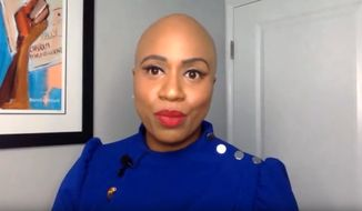 """Rep. Ayanna Pressley talks to comedian  Samantha Bee about racism in America, June 10, 2020. (Image: YouTube, """"Full Frontal with Samantha Bee"""" video screenshot)"""