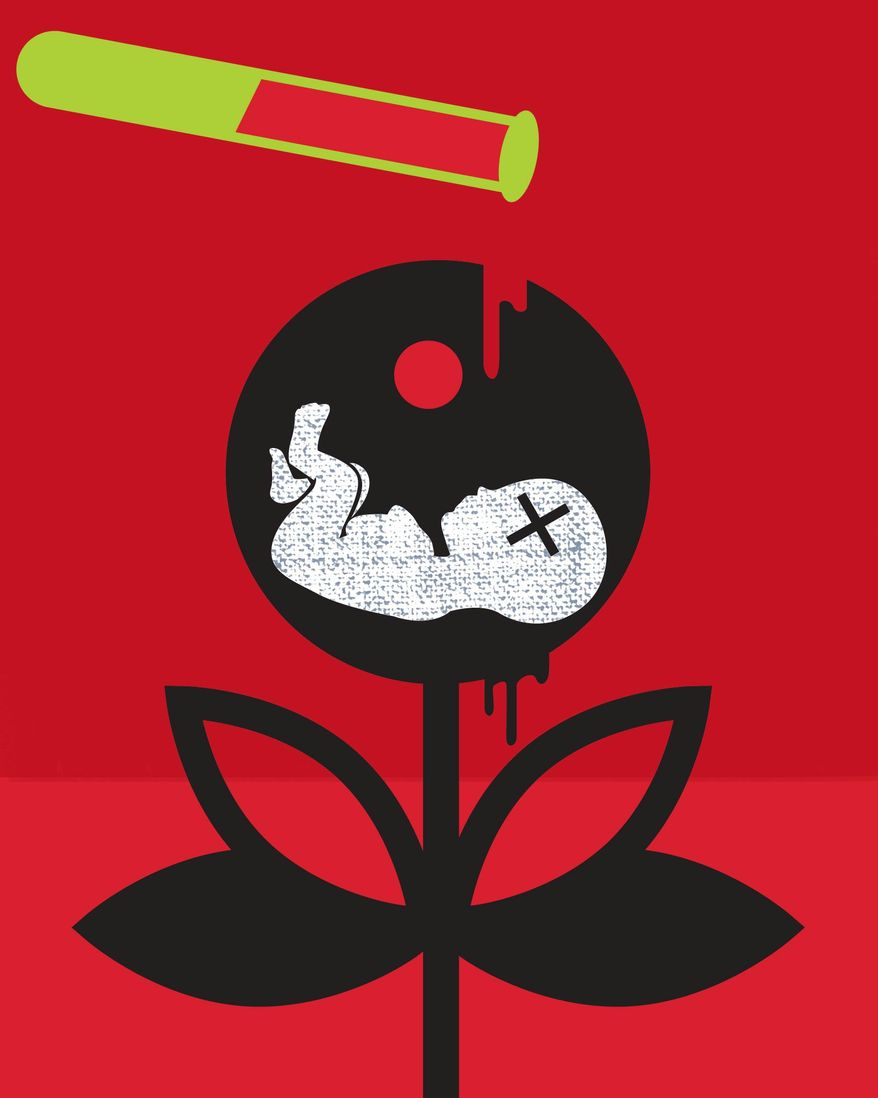 Impact of abortion drugs on women and the environment illustration by The Washington Times