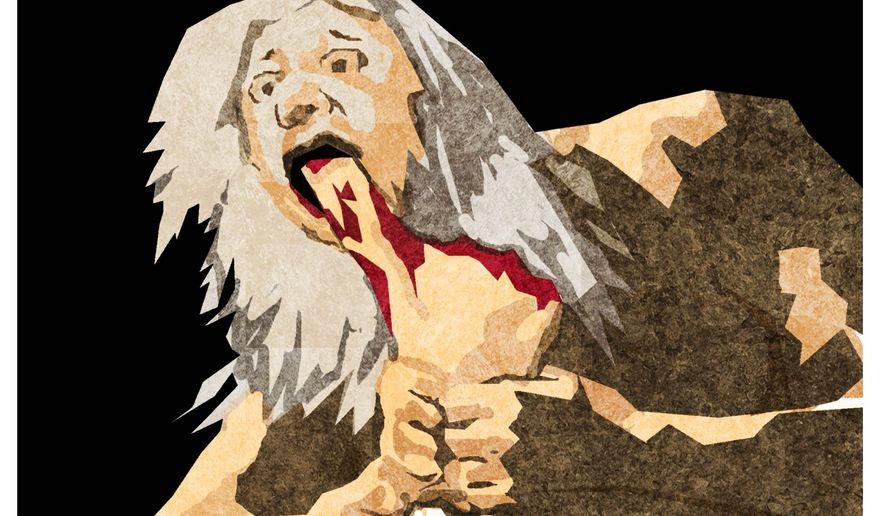 Illustration on the self-destruction of cultural movements by Alexander Hunter (after Goya)/The Washington Times