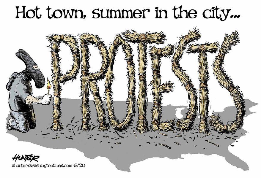 Illustration by Alexander Hunter for The Washington Times (published June 18, 2020)