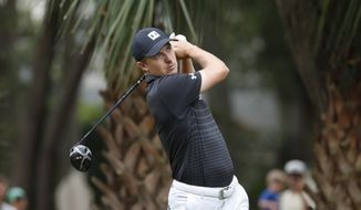 Jordan Spieth hits from the 11th tee during the first round of the RBC Heritage golf tournament, Thursday, June 18, 2020, in Hilton Head Island, S.C. (AP Photo/Gerry Broome)  **FILE**