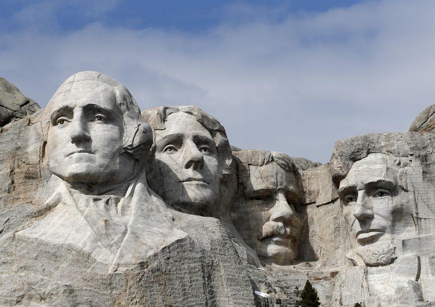 This March 22, 2019, file photo shows Mount Rushmore in Keystone, S.D. (AP Photo/David Zalubowski, File)