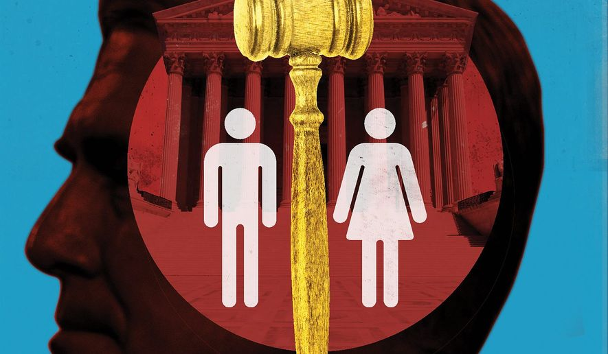 Homosexual and transgender 'rights'  illustration by The Washington Times