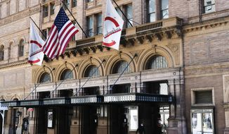 """FILE - This May 12, 2020 file photo shows Carnegie Hall in New York. Lincoln Center for the Performing Arts and Carnegie Hall have canceled their fall schedules due to the coronavirus pandemic and the New York City Ballet called off its annual holiday presentation of Tchaikovsky's """"The Nutcracker."""" (Photo by Evan Agostini/Invision/AP, File)"""