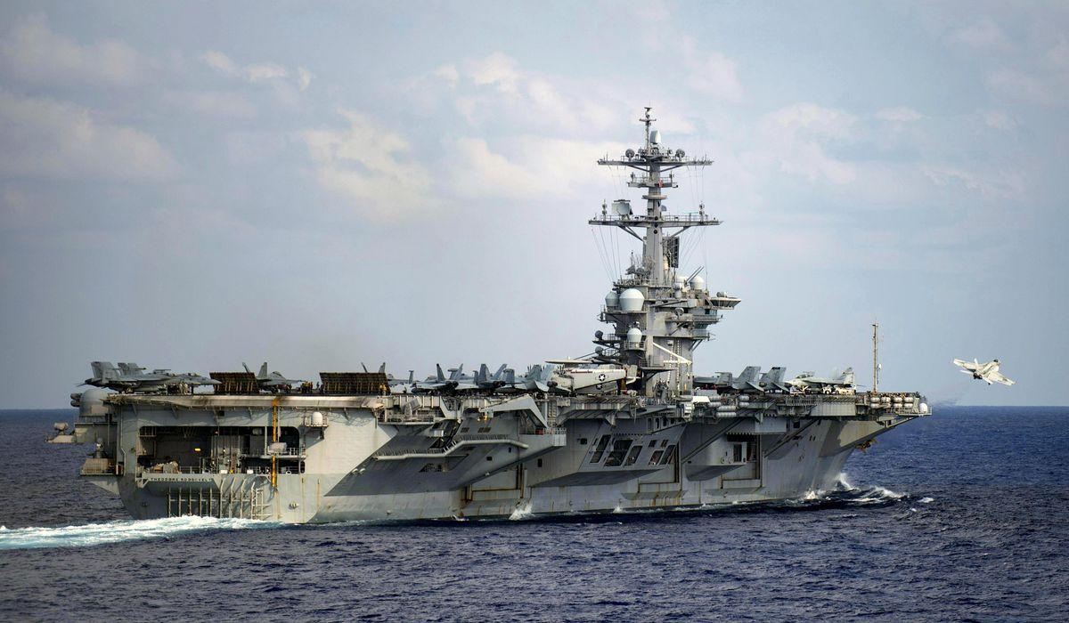 USS Roosevelt gets third new commander in five months
