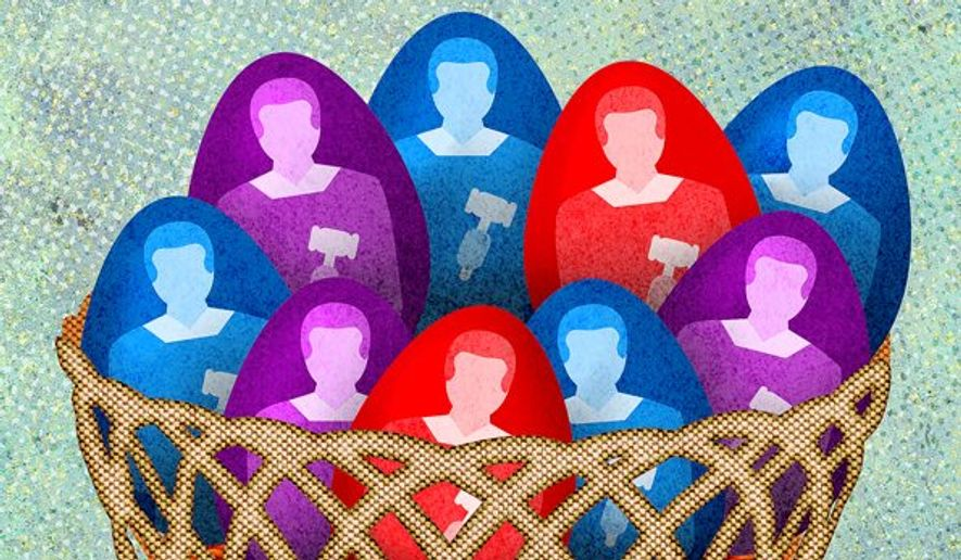 Supreme Court Colors Illustration by Greg Groesch/The Washington Times