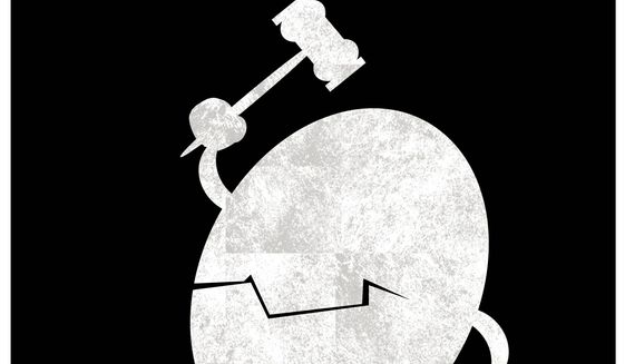 Illustration on the recent supreme court decisions by Alexander Hunter/The Washington Times