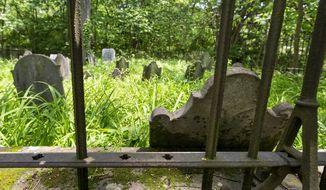 A hidden cemetery along the Appalachian Trail in Middlesex County, Pa. on June 3, 2020. (Joe Hermitt/The Patriot-News via AP)
