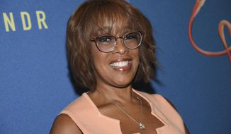 """In this Oct. 2, 2019 file photo, Gayle King attends """"Freestyle Love Supreme"""" Broadway opening night in New York. (Photo by Evan Agostini/Invision/AP, File)"""