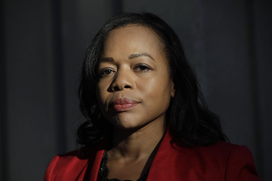 This Oct. 15, 2019, file photo shows Kristen Clarke, president and executive director of the National Lawyer's Committee for Civil Rights Under Law in Washington. (AP Photo/Pablo Martinez Monsivais, File)