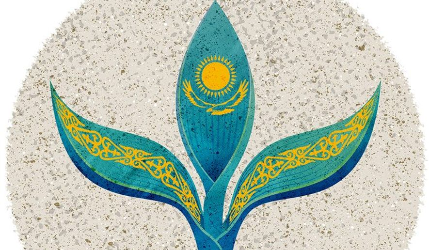 Growing Democracy in Kazakhstan Illustration by Greg Groesch/The Washington Times
