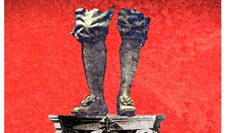 Illustration on the hazards of denying history by Alexander Hunter/The Washington Times