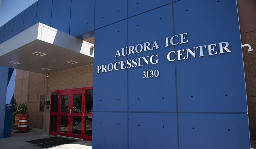 An ICE facility is shown in this August 6, 2019, photo in the public domain, taken by Keith Gardner for U.S. Immigration and Customs Enforcement. [https://www.dvidshub.net/image/5655616/life-inside-aurora-contract-detention-facility] **FILE**