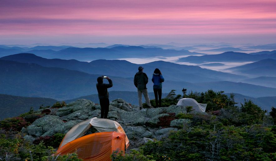 """The American Hiking Society advises members to use """"best judgment"""" when sharing public restrooms and shopping at campgrounds. (ASSOCIATED PRESS)"""