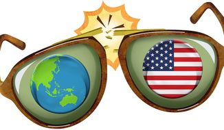 Changing World View Illustration by Greg Groesch/The Washington Times