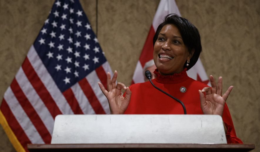 District of Columbia Mayor Muriel Bowser speaks during a news conference on Capitol Hill in Washington, Thursday, June 25, 2020, about D.C. statehood. (AP Photo/Carolyn Kaster)