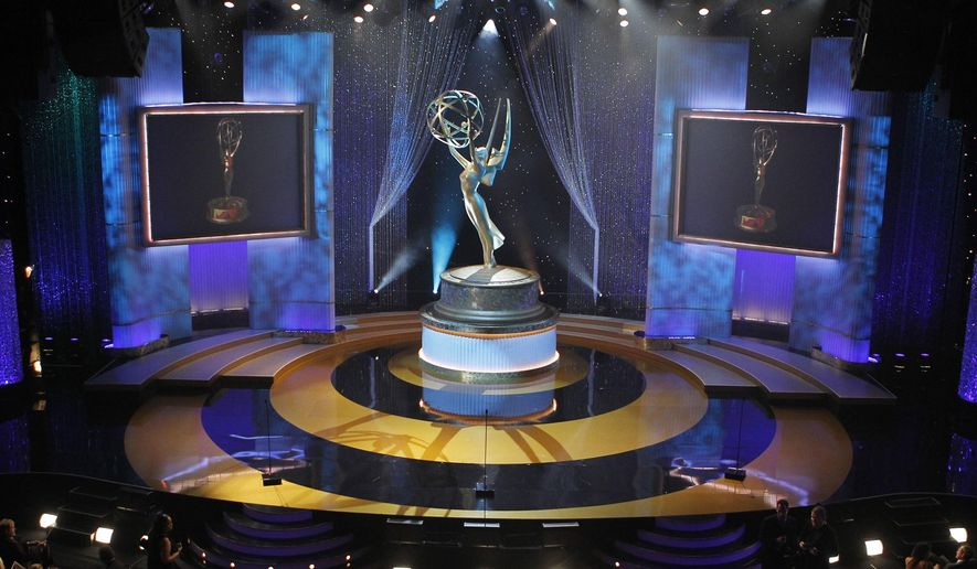 In this June 27, 2010, file photo, a view of the stage appears at the 37th annual Daytime Emmy Awards in Las Vegas. The 47th annual Daytime Emmy Awards will air on Friday, June 26 at 8 PM EST/PST. (AP Photo/Eric Jamison, File)