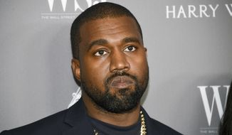 In this Nov. 6, 2019, photo, Kanye West attends the WSJ. Magazine 2019 Innovator Awards at the Museum of Modern Art in New York. (Evan Agostini/Invision/AP) ** FILE **